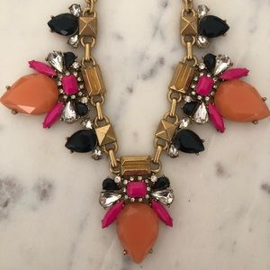 Gold Chained Statement Necklace J Crew Adjustable